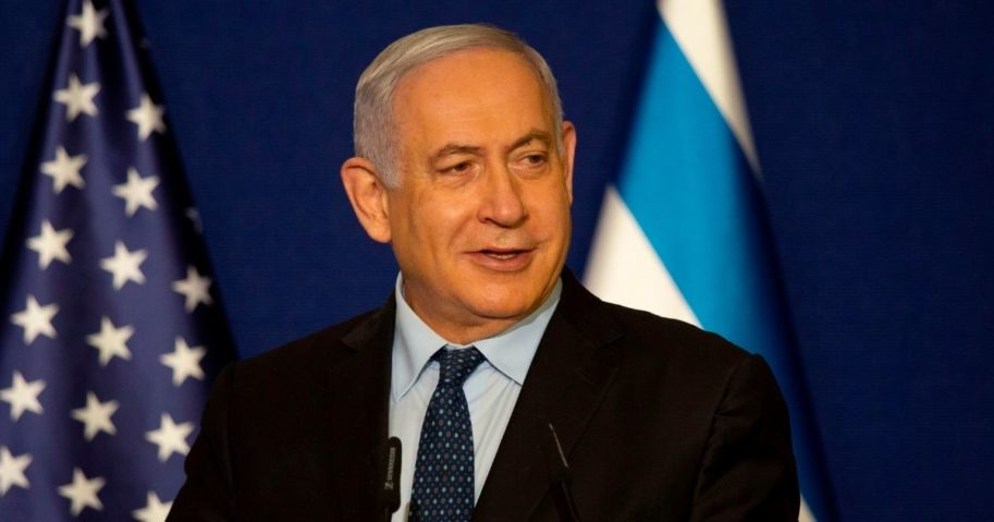 Israeli Prime Minister Benjamin Netanyahu speaks in Jerusalem on Thursday.