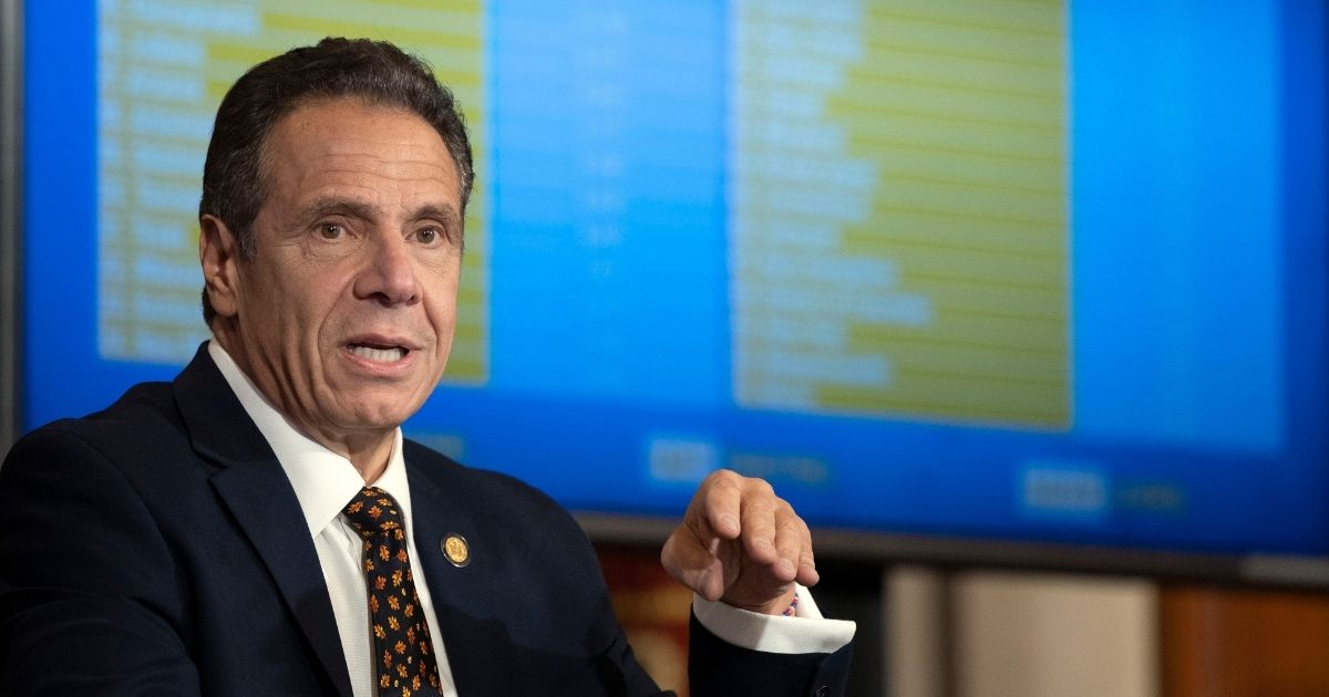 Gov. Andrew Cuomo holds a news briefing on COVID-19