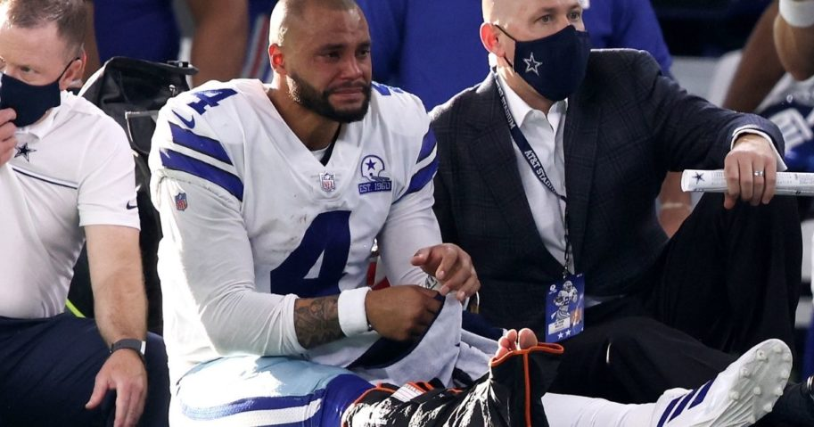 Dallas Cowboys quarterback Dak Prescott fractured and dislocated his ankle on Oct. 11 during a game against the New York Giants.