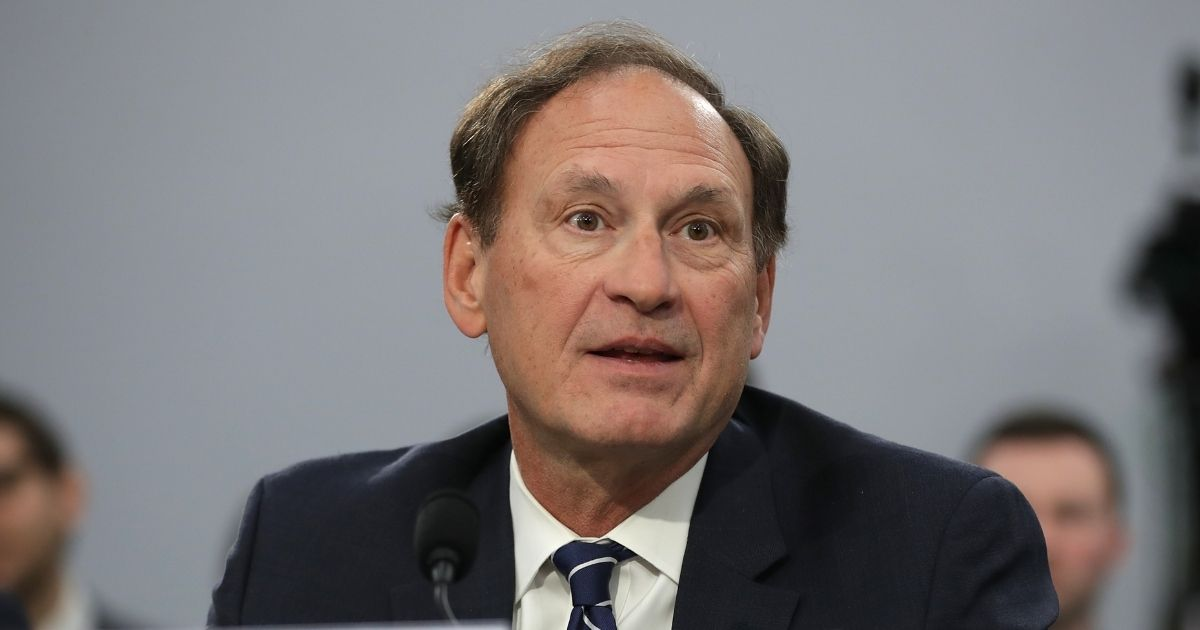 Supreme Court Associate Justice Samuel Alito testifies about the court's budget during a hearing of the House Appropriations Committee's Financial Services and General Government Subcommittee on March 7, 2019, in Washington, D.C.