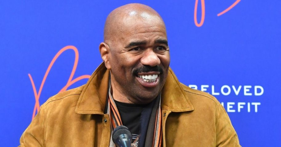 Steve Harvey attends the Beloved Benefit at Mercedes-Benz Stadium in Atlanta on March 21, 2019.