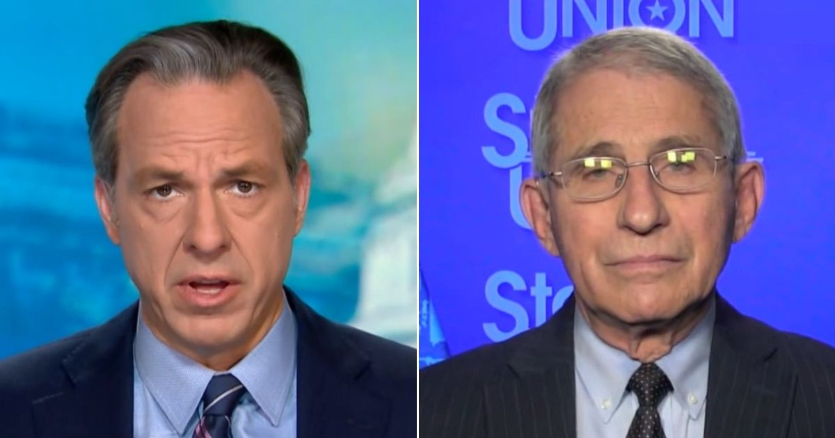 """CNN's Jake Tapper talks to Dr. Anthony Fauci on """"State of the Nation."""""""