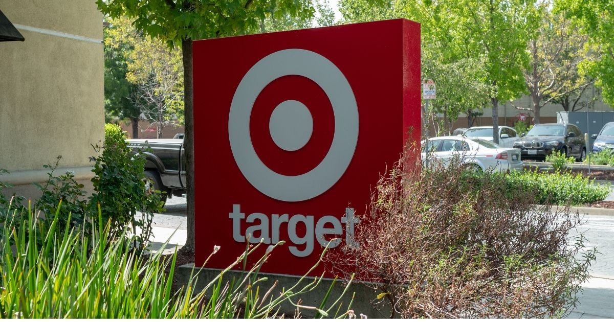 A close-up of sign for Target in San Ramon, California on Sept. 18.