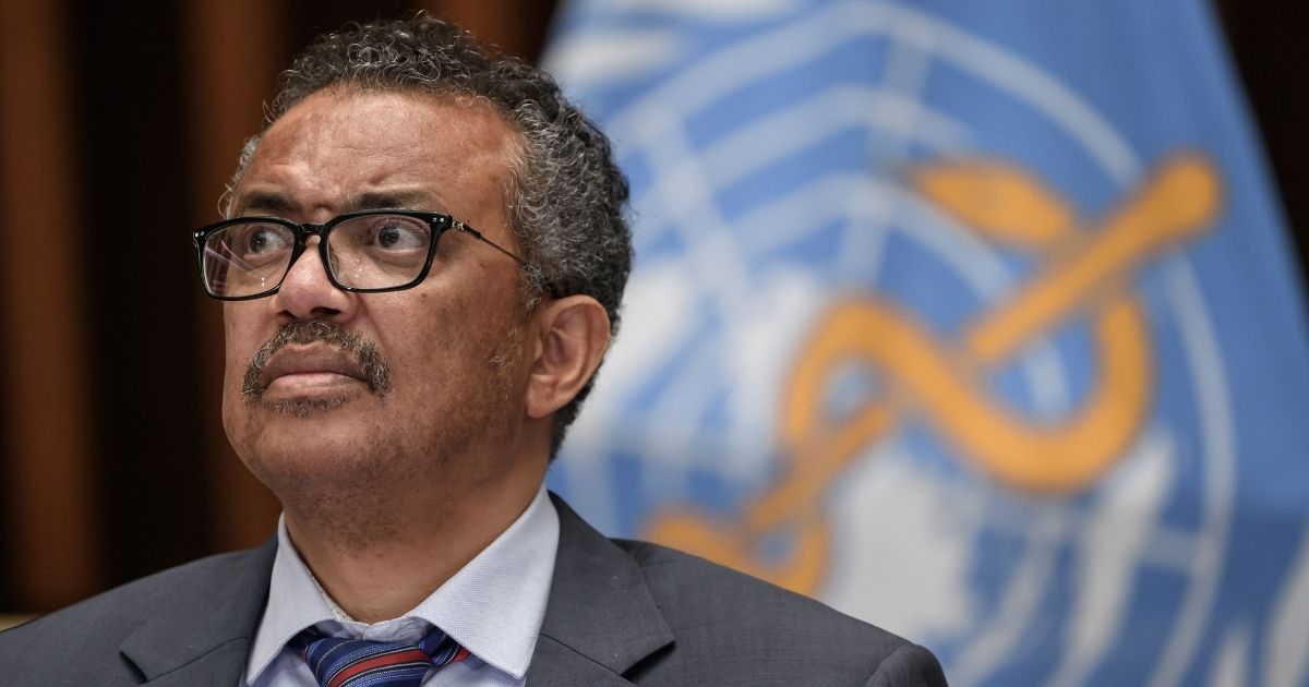 World Health Organization Director-General Tedros Adhanom Ghebreyesus attends a news conference organized by the Geneva Association of U.N. Correspondents amid the COVID-19 outbreak July 3 at WHO headquarters in Geneva.