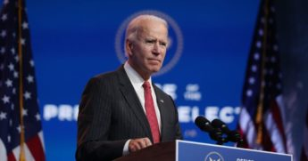 Former Vice President Joe Biden addresses the media last week in Wilmington, Delaware.