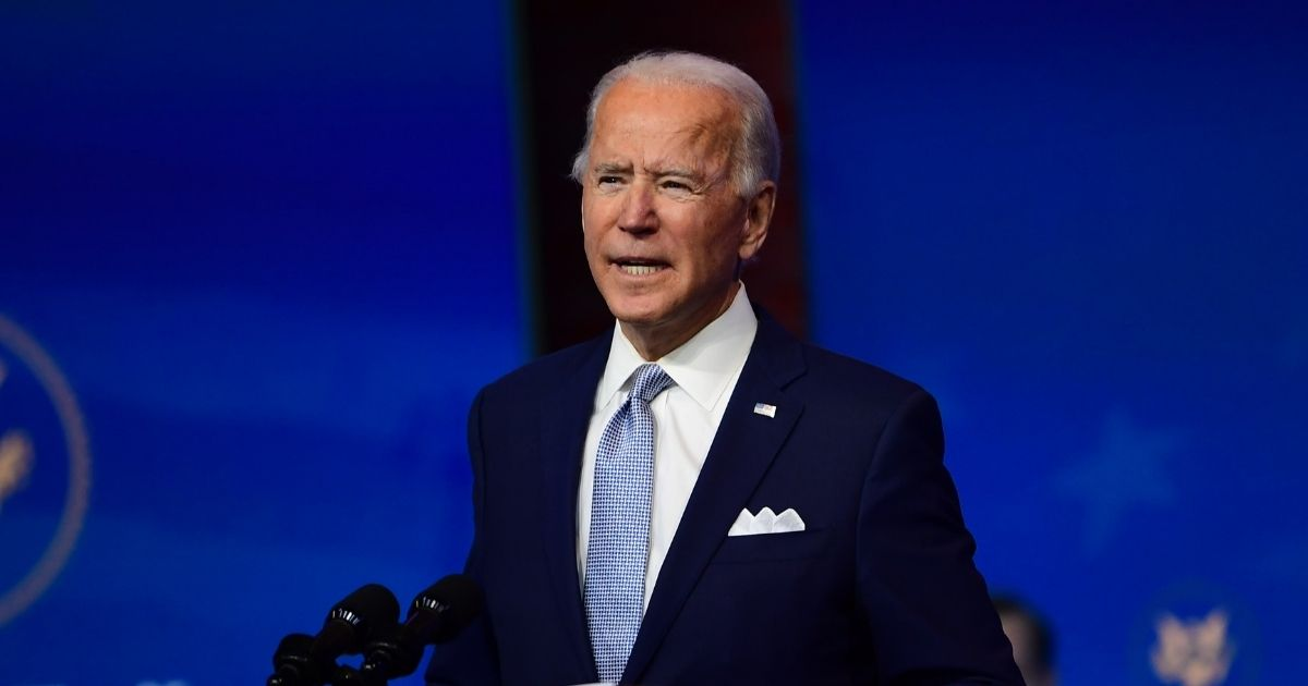 Former Vice President Joe Biden announces members of the national security team for a potential Biden administration Tuesday during an event in Wilmington, Delaware.