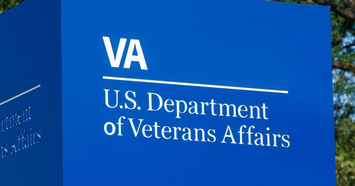 A sign for the Department of Veterans Affairs is pictured in the stock image above.