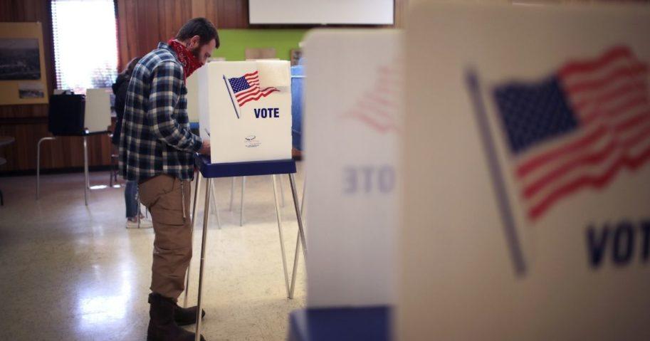 Residents vote at the Beloit Historical Society on Nov. 3, in Beloit, Wisconsin.