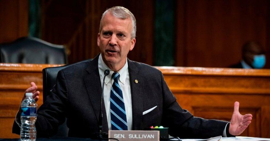 Republican Sen. Dan Sullivan of Alaska speaks during a hearing on May 20, 2020, in Washington, D.C.