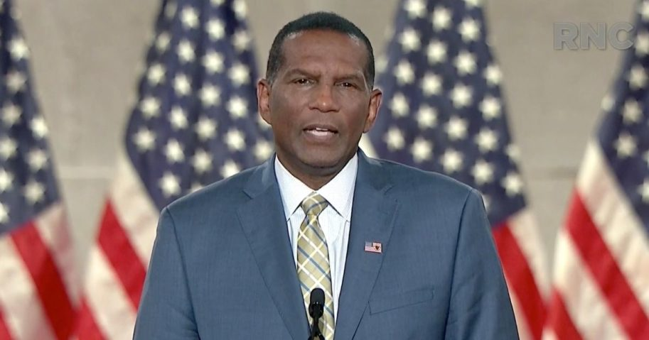 Former NFL player Burgess Owens addresses the Republican National Convention on Aug. 26, 2020.
