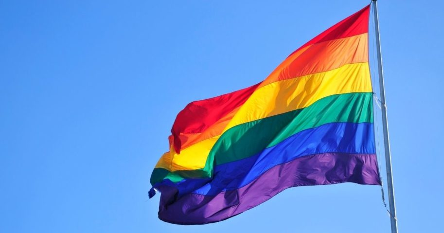 This stock image shows an LGBT flag.