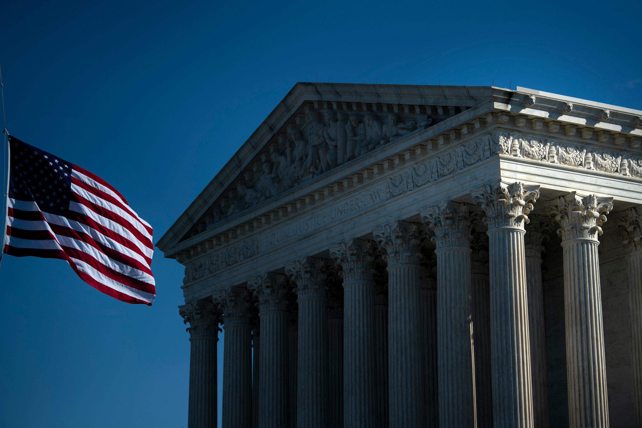 The US Supreme Court is seen on Oct. 2, 2020, in Washington, D.C.