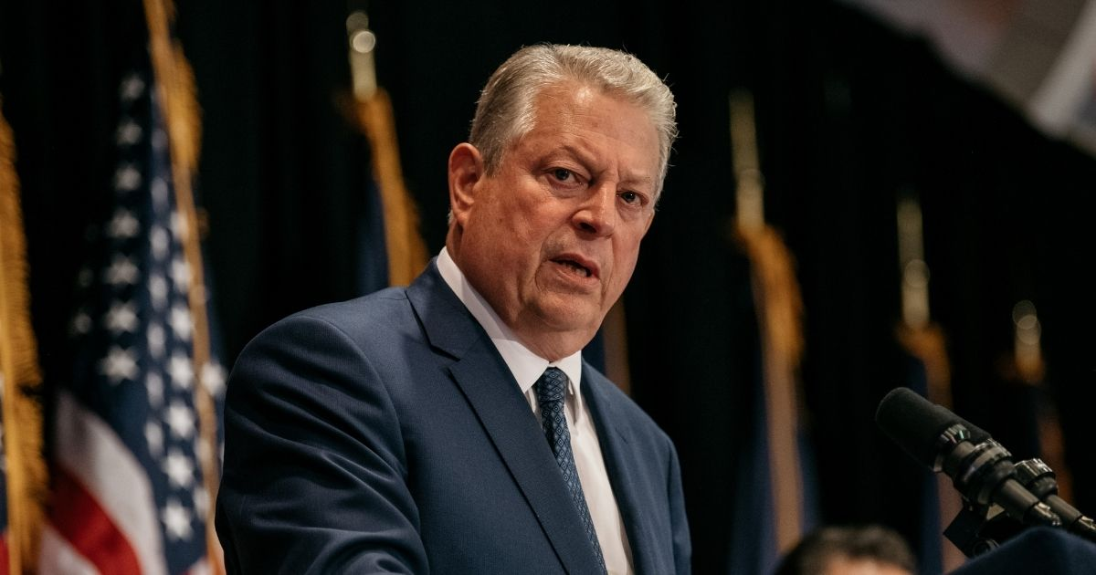 Former Vice President Al Gore delivers a speech on the importance of renewable energy on July 18, 2019, in New York City.