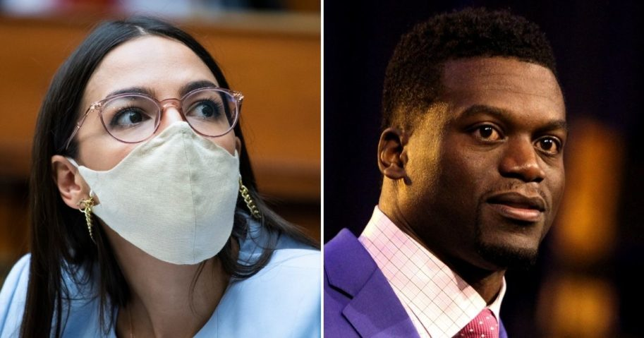 Benjamin Watson, right, schooled New York Democratic Rep. Alexandria Ocasio-Cortez after she railed against an abortion law.