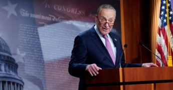 Senate Minority Leader Sen. Chuck Schumer of New York speaks on Capitol Hill in Washington on Tuesday.