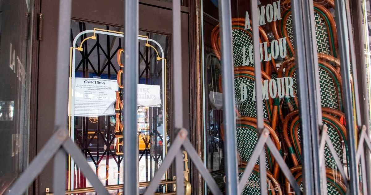 A restaurant in Los Angeles is shut down and gated Dec. 8 under California's strict coronavirus lockdown order.