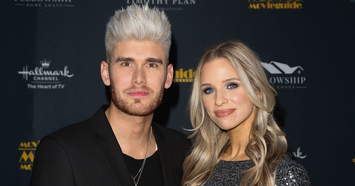 Colton Dixon, left, and his wife Annie Coggeshall attend the 28th Annual Movieguide Awards Gala at Avalon Theater on Jan. 24, 2020, in Los Angeles.