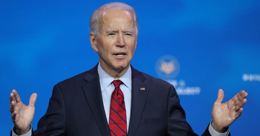Presumptive president-elect Joe Biden announces the members of his health team at the Queen Theater in Wilmington, Delaware, on Tuesday.