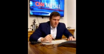 Conservative investigative journalist Jame O'Keefe confronted CNN president Jeff Zucker on a network editorial meeting conference call which he live-streamed on social media.