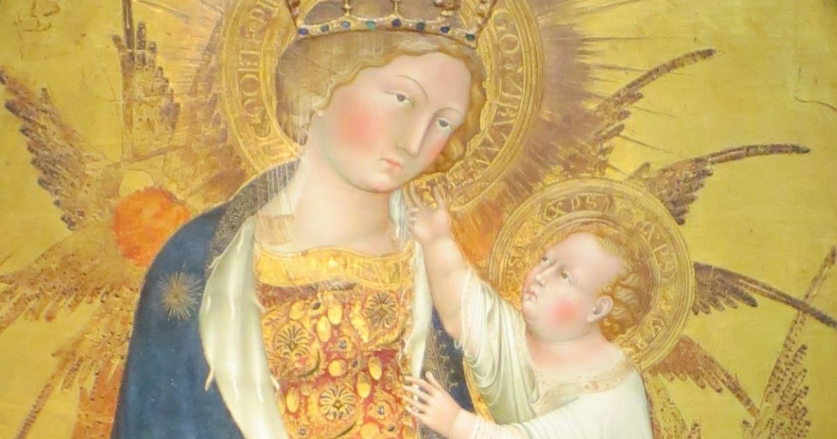 """Giovanni di Paolo's """"Branchini Madonna,"""" painted in 1427, is displayed at the Norton Simon Museum."""