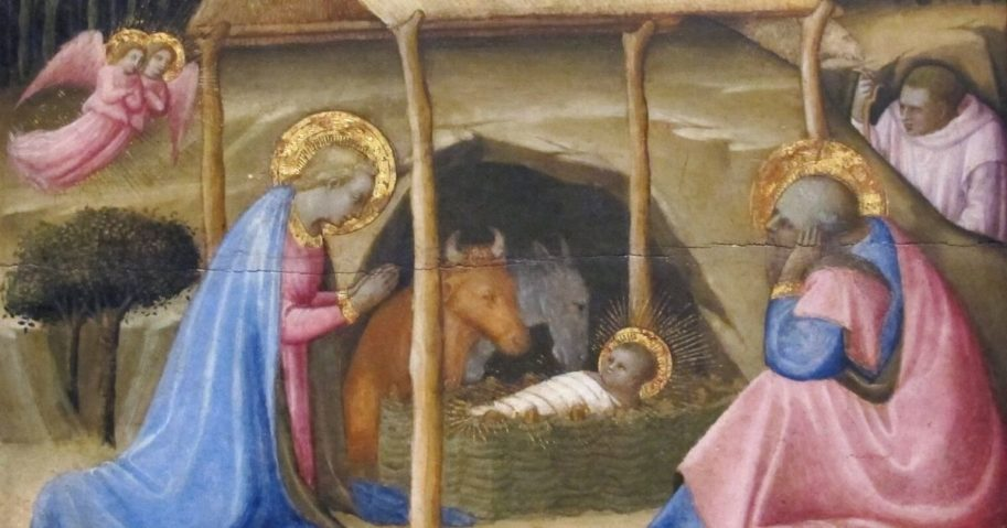 Paolo Schiavo's 15th century painting of the Nativity is seen at the Philadelphia Museum of Art.