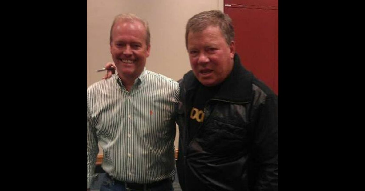 """Peter Shatner, left, a man who claimed to be William Shatner's son, is pictured with the """"Star Trek"""" actor."""