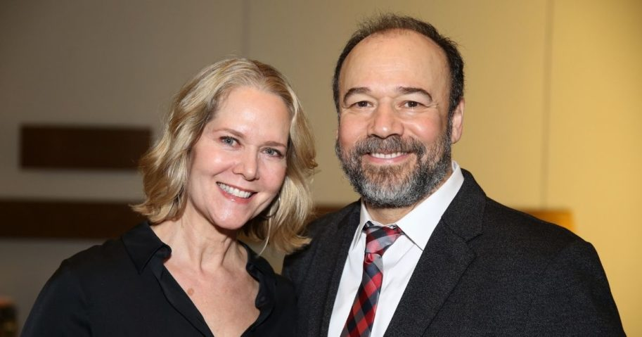 """Rebecca Luker and Danny Burstein attend the """"My Fair Lady"""" re-opening celebration at the Vivian Beaumont Theatre on Jan. 27, 2019, in New York City."""