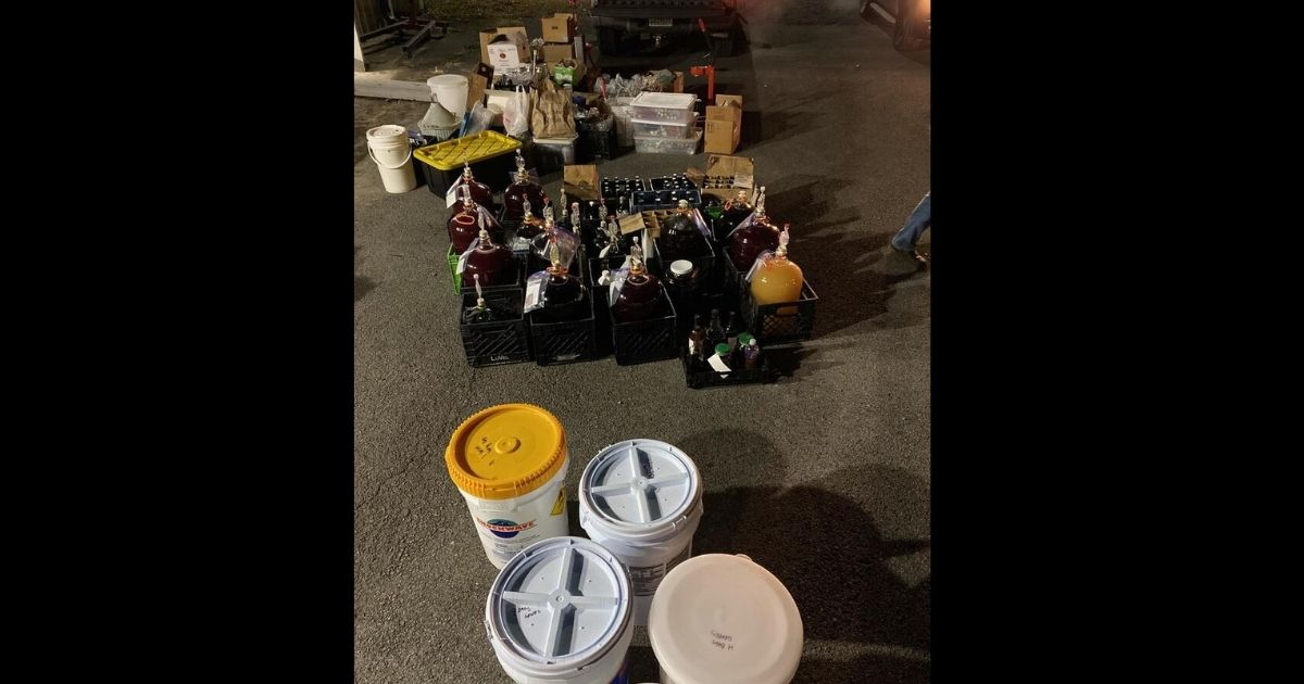 Authorities in Rainsville, Alabama, say they busted an illegal winery operation on Dec. 17.