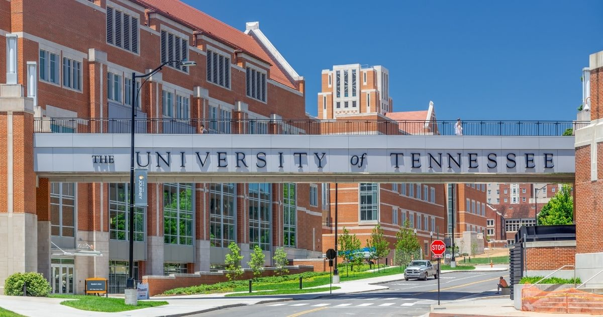 The University of Tennessee in Knoxville is pictured above.