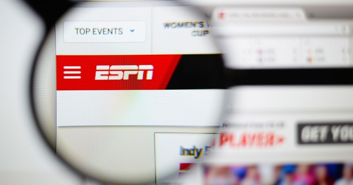 The ESPN logo is pictured above.