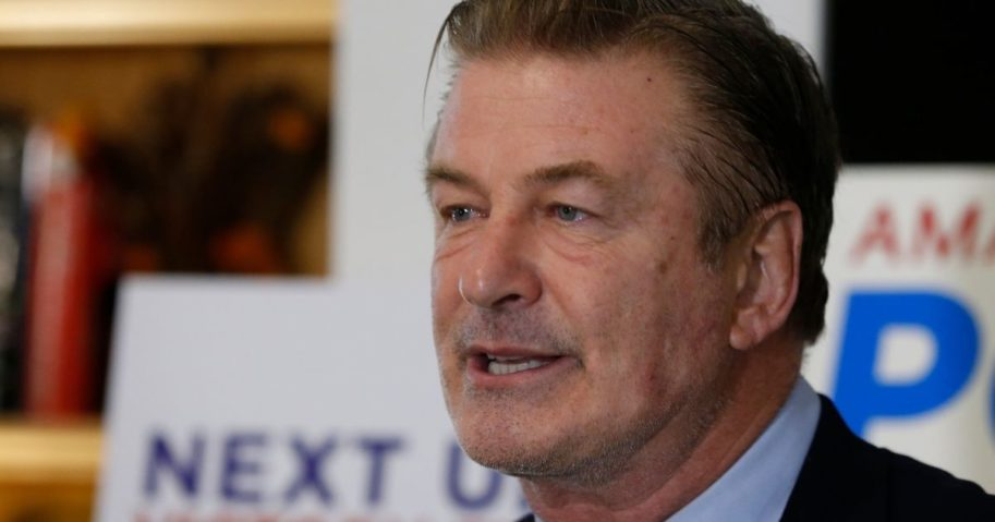 Actor Alec Baldwin, pictured in a file photo campaigning for a Democratic Virginia state Senate candidate in 2019.