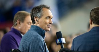 NBC's Cris Collinsworth, pictured in a 2018 file photo.