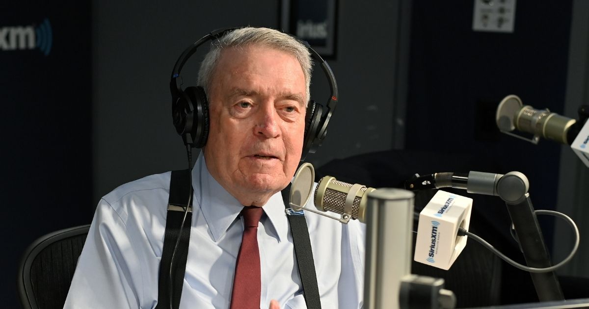 Disgraced journalist Dan Rather is pictured during a SiriusXMinterview in May 2019.