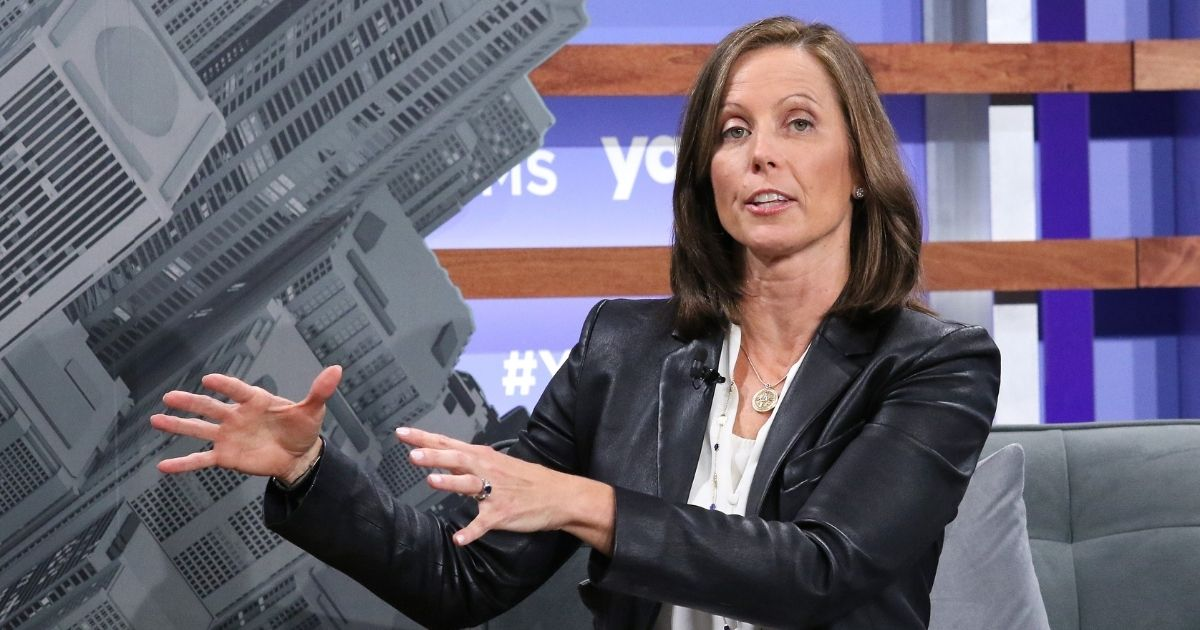 Nasdaq CEO Adena Friedman, shown at the Yahoo Finance All Markets Summit at Union West Events on Oct. 10, 2019, in New York City, says 'Nasdaq's purpose is to champion inclusive growth and prosperity to power stronger economies.'