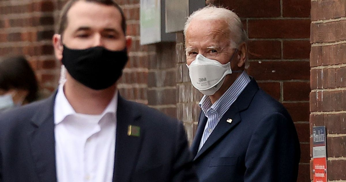 Presumptive President-elect Joe Biden leaves Pennsylvania Hospital in Philadelphia after a follow-up appointment at the radiology department Saturday.
