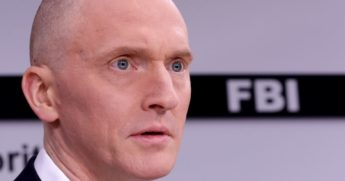 Carter Page participates in a discussion at the One America News studios on Capitol Hill on May 29, 2019, in Washington, D.C.