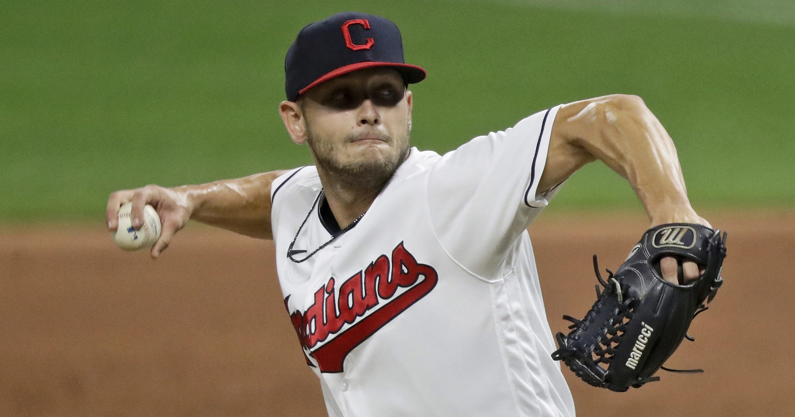 Cleveland Indians relief pitcher Cam Hill delivers in the ninth inning against the Chicago White Sox on July 28 at Progressive Field.