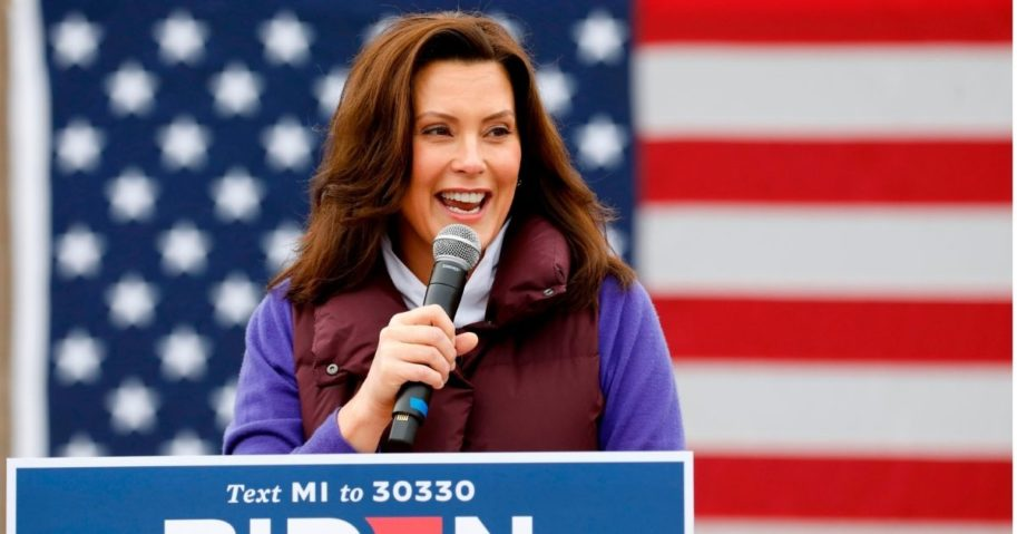 Michigan Gov. Gretchen Whitmer speaks at a campaign event on Oct. 25, 2020, in Detroit, Michigan.