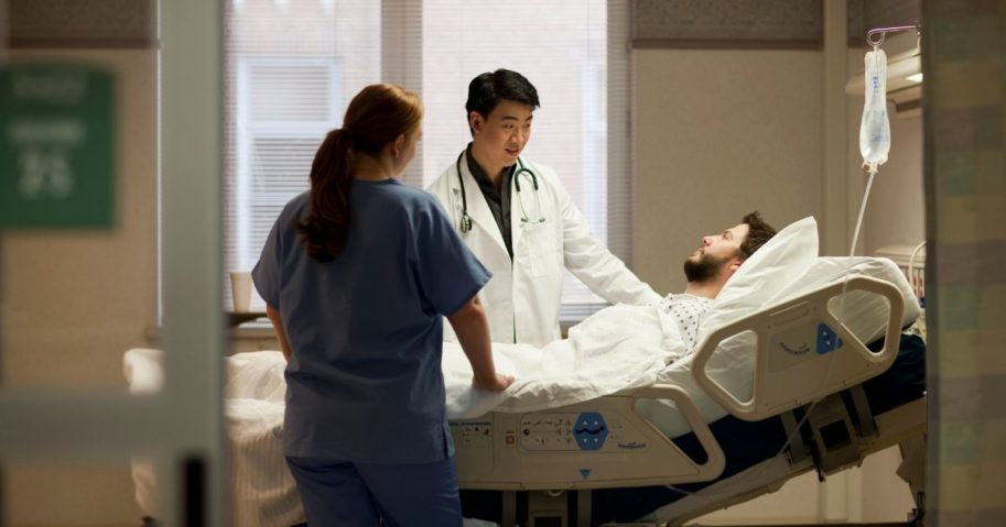 A doctor speaks to a patient in this stock image.