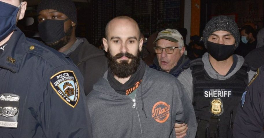 An owner of a New York City bar that was providing indoor service in defiance of coronavirus restrictions was arrested on Dec. 1, 2020, the city sheriff's office said.