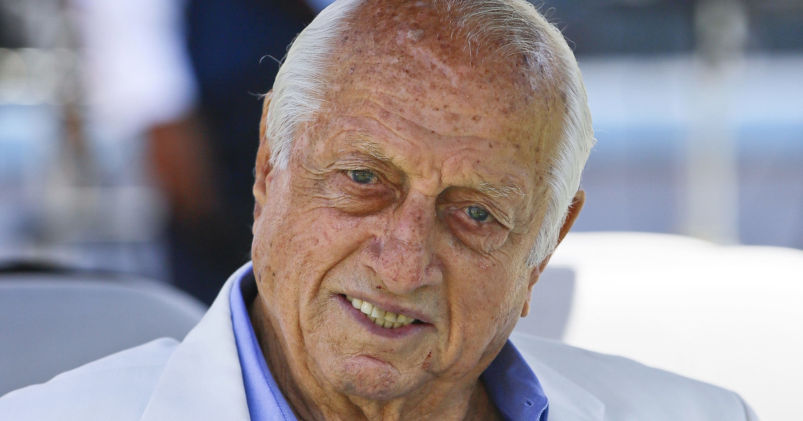 In this April 11, 2018, file photo, former Los Angeles Dodgers manager Tommy Lasorda attends a news conference in Los Angeles. Lasorda, the fiery Hall of Fame manager who guided the Los Angeles Dodgers to two World Series titles and later became an ambassador for the sport he loved during his 71 years with the franchise, has died. He was 93. The Dodgers said Friday that he had a heart attack at his home in Fullerton, California.