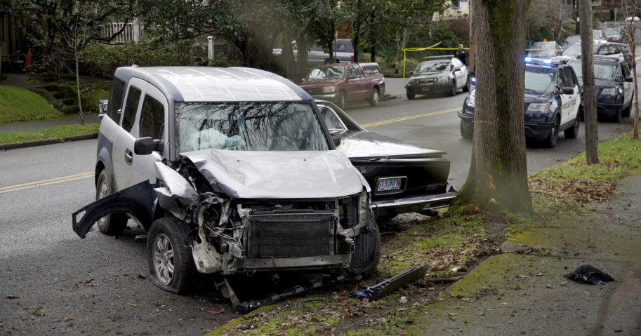 A motorist repeatedly drove into people along streets and sidewalks in Portland, Oregon, on Jan. 25, 2021, killing an elderly woman and injuring nine others.
