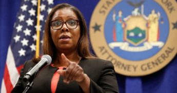 New York State Attorney General Letitia James takes a question at a news conference Aug. 6 in New York City.
