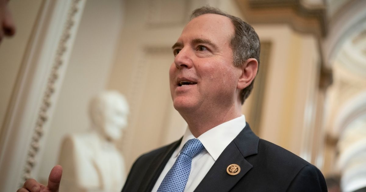 House Intelligence Committee Chairman Adam Schiff talks to reporters on Capitol Hill in Washington on March 3, 2020.