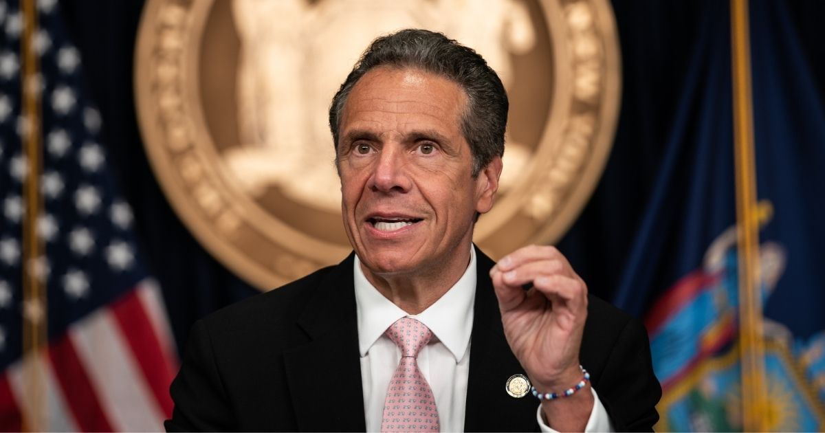 New York Gov. Andrew Cuomo speaks during his daily media briefing on June 12, 2020, in New York City.