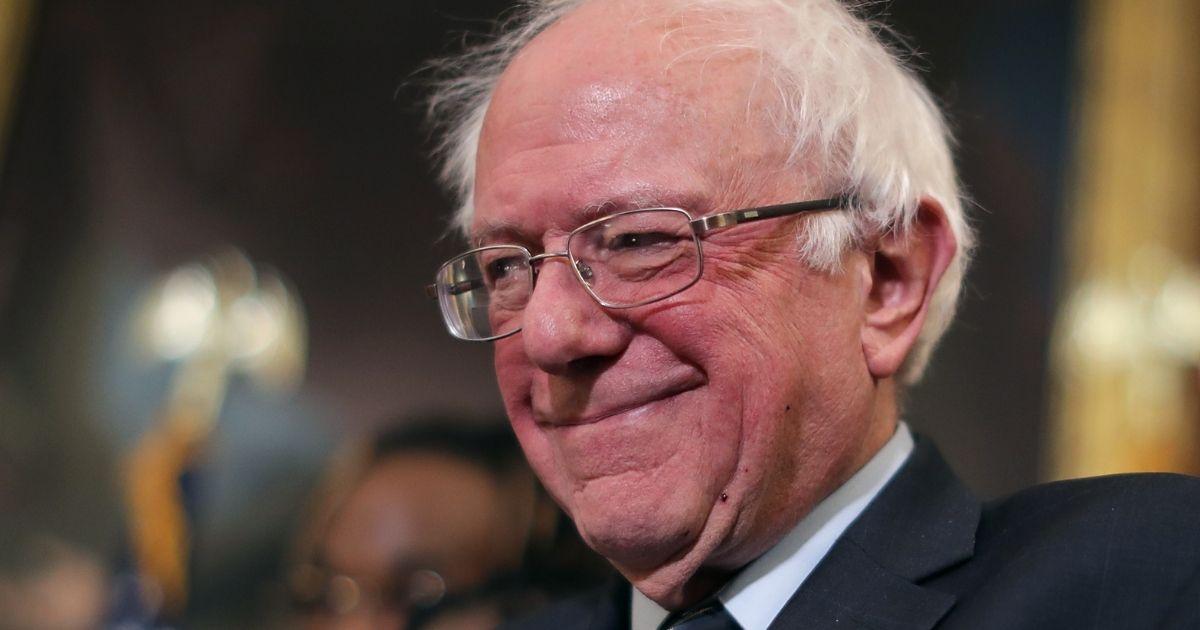 Vermont Sen. Bernie Sanders is seen in the Rayburn Room at the U.S. Capitol in Washington on Jan. 16, 2019.