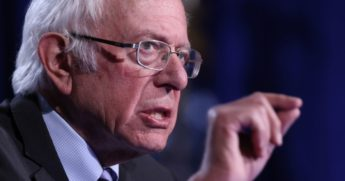Sen. Bernie Sanders of Vermont speaks at George Washington University in Washington on Sept. 24.