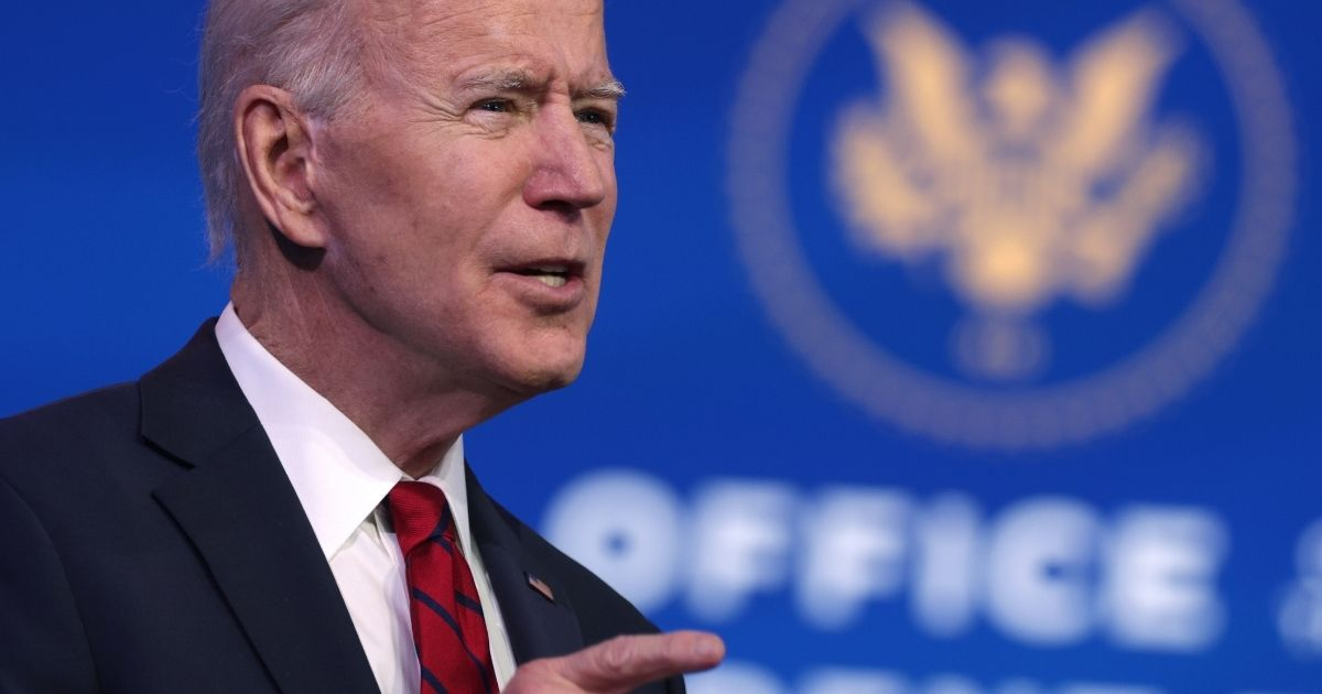 President-elect Joe Biden speaks during day two of laying out his plan on combating the coronavirus at the Queen theater Friday in Wilmington, Delaware.
