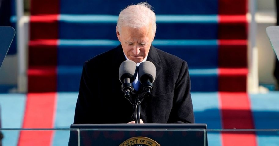 President Joe Biden delivers his inauguration speech on Wednesday at the U.S. Capitol in Washington, D.C.