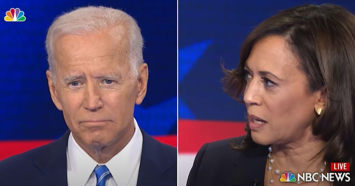 Kamala Harris chastises Joe Biden during a Democratic presidential primary debate June 27, 2019.
